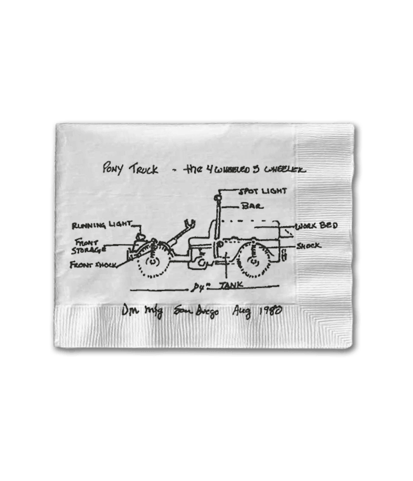 1980 napkin with drawing