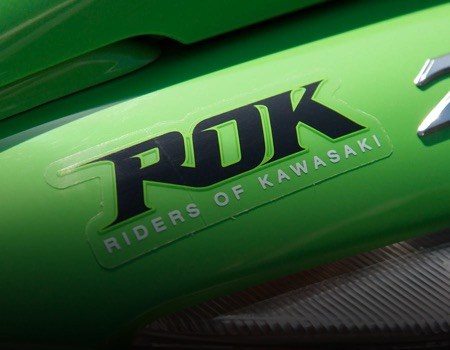 riders of kawasaki sticker