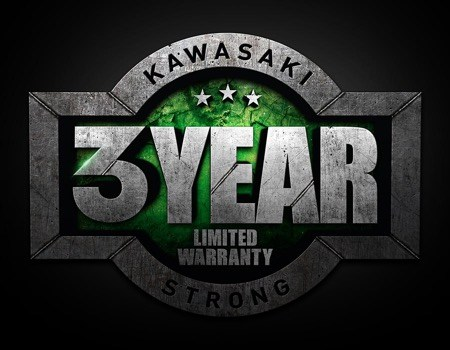 kawasaki 3 year limited warranty logo