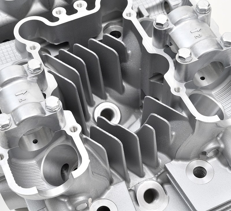 Reproduction Z1 Cylinder Head, Silver detail photo 7