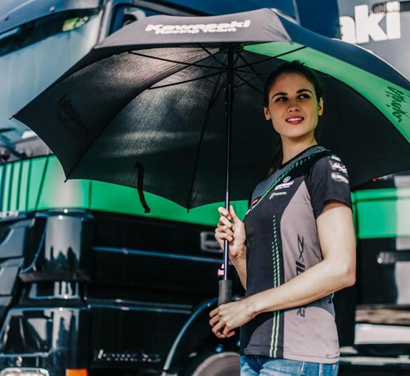 Kawasaki Racing Team World Super Bike Umbrella detail photo 3