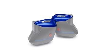 KQR™ 28 Liter Hard Saddlebag Set, Color Panel Set, Candy Cascade Blue/46M