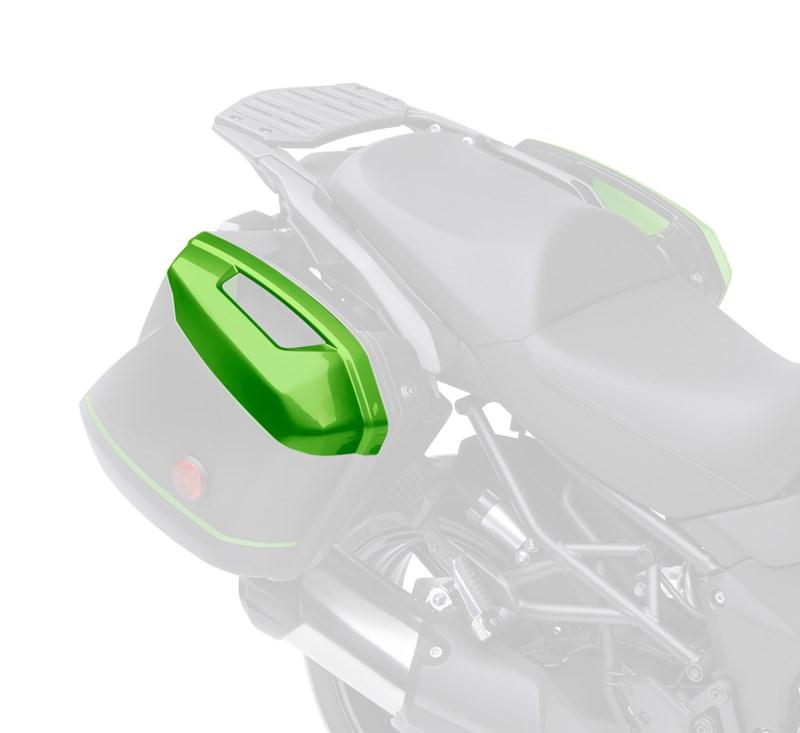 KQR™ 28 Liter Hard Saddlebag Set, Color Panel Set, Candy Lime Green/51P detail photo 2