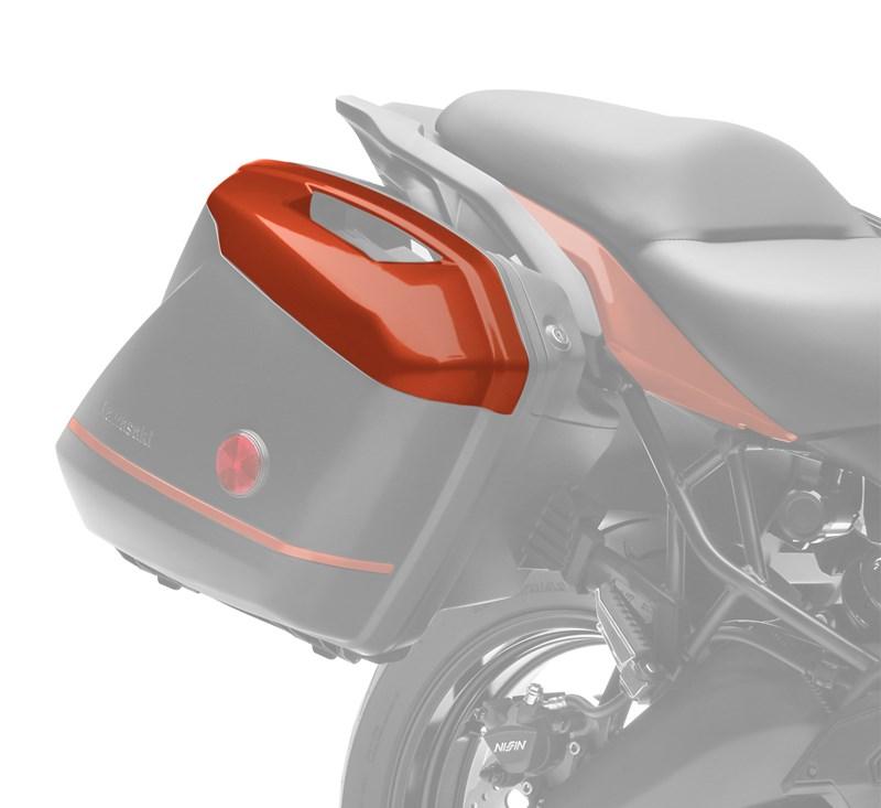 KQR™ 28 Liter Hard Saddlebag Set, Color Panel Set, Candy Matte Orange/53P detail photo 2