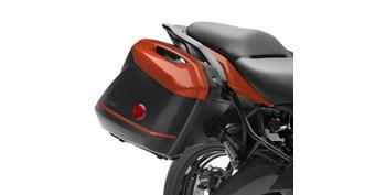 KQR™ 28 Liter Hard Saddlebag Set, Color Panel Set, Candy Matte Orange/53P