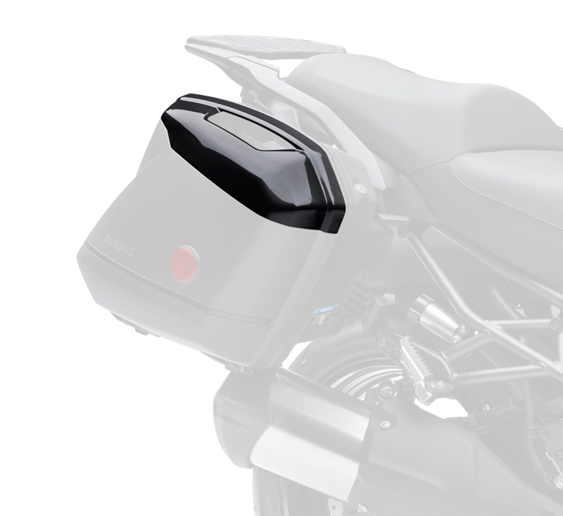 KQR™ 28 Liter Hard Saddlebag Set, Color Panel Set, Metallic Spark Black/660 detail photo 2