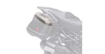 KQR™ 28 Liter Hard Saddlebag Set, Color Panel Set, Metallic Raw Titanium/725