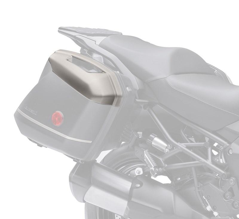 KQR™ 28 Liter Hard Saddlebag Set, Color Panel Set, Metallic Raw Titanium/725 detail photo 1