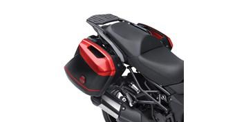 KQR™ 28 Liter Hard Saddlebag Set, Color Panel Set, Candy Fire Red/816