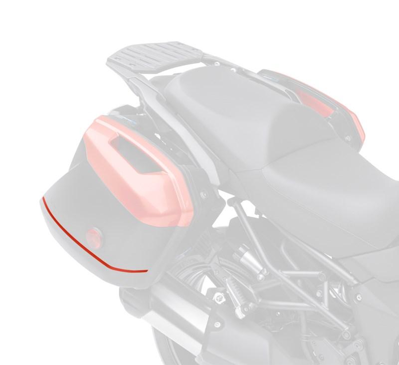 KQR™ 28 Liter Hard Saddlebag Set, Trim Set, Candy Burnt Orange/15T detail photo 2