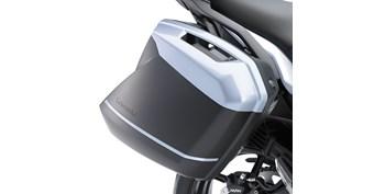 KQR™ 28 Liter Hard Saddlebag Set, Trim Set, Pearl Stardust White/25Y