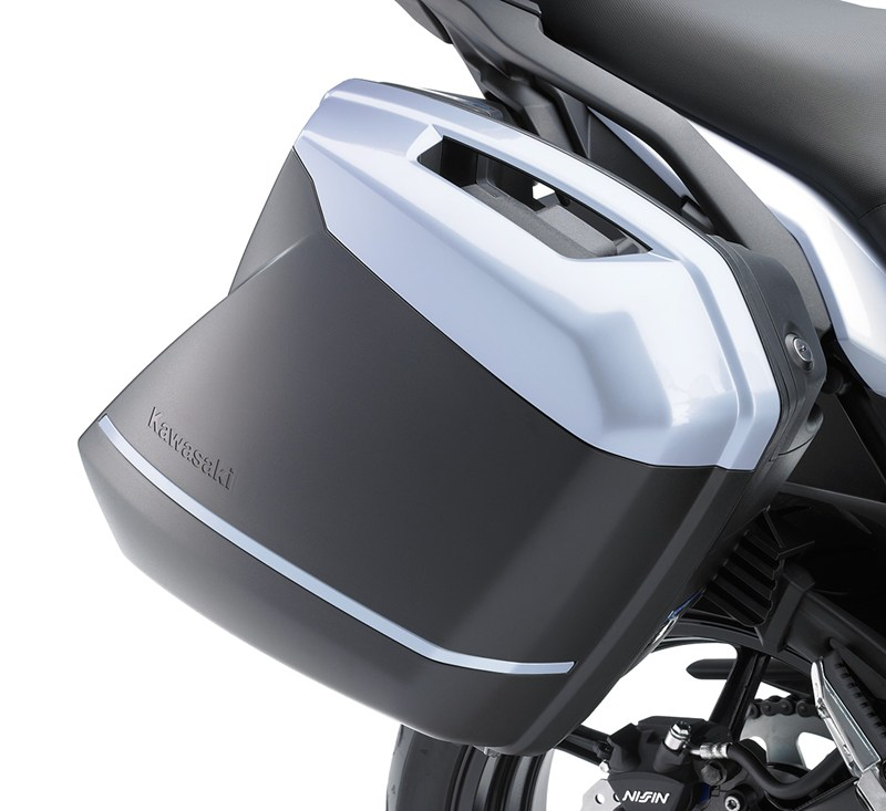 KQR™ 28 Liter Hard Saddlebag Set, Trim Set, Pearl Stardust White/25Y detail photo 1