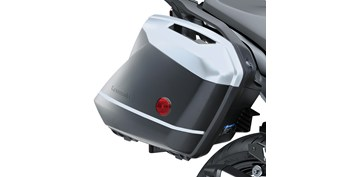 KQR™ 28 Liter Hard Saddlebag Set, Trim Set, Pearl Flat Stardust White/40XA