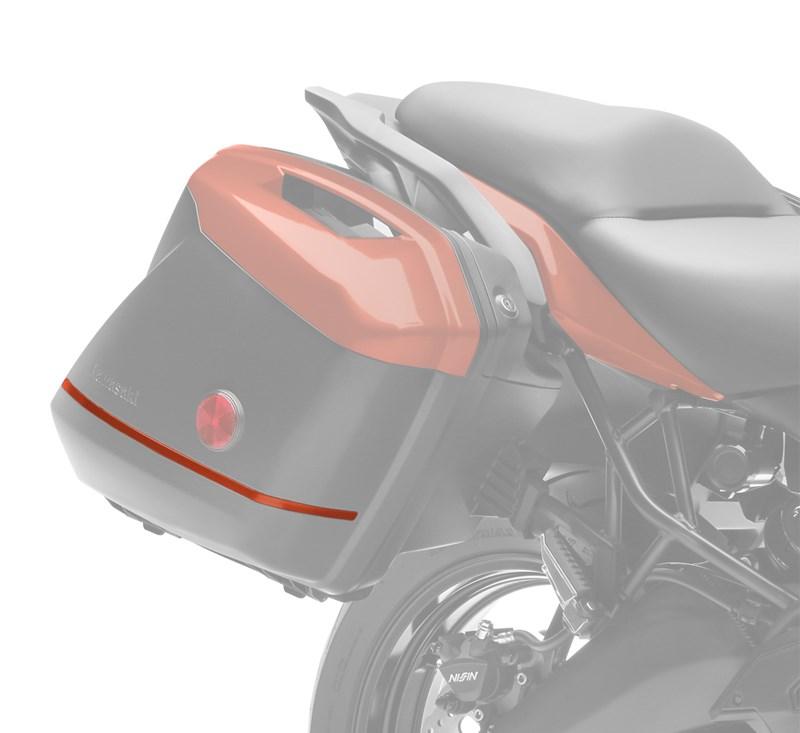 KQR™ 28 Liter Hard Saddlebag Set, Trim Set, Candy Matte Orange/53P detail photo 2