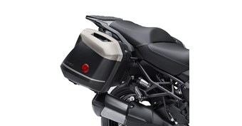 KQR™ 28 Liter Hard Saddlebag Set, Trim Set, Metallic Raw Titanium/725
