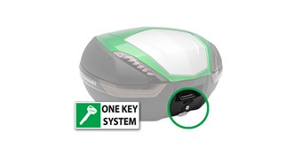 KQR™ 47 Liter Top Case, One Key System, Type B