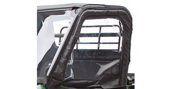 Cab Enclosure, Soft Upper Door Set, Black