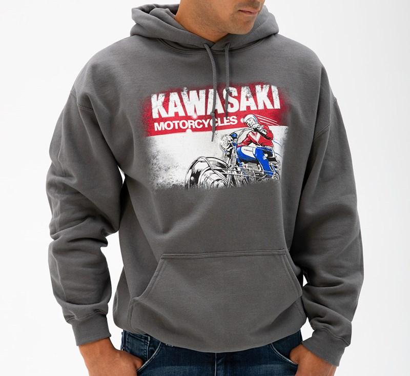 Kawasaki Heritage Logo Old School Sign Sweatshirt detail photo 1