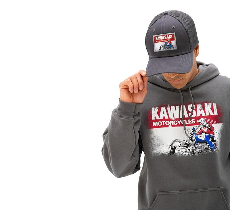 Kawasaki Heritage Logo Old School Sign Sweatshirt detail photo 3