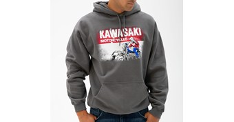 Kawasaki Heritage Logo Old School Sign Sweatshirt