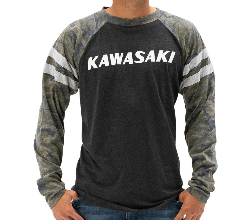 Kawasaki Heritage Camo Logo Long Sleeve T-shirt detail photo 1