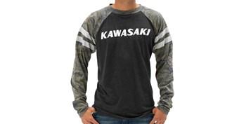 Kawasaki Heritage Camo Logo Long Sleeve T-shirt