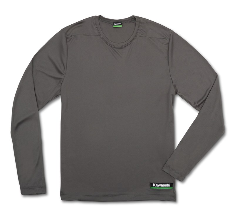 Kawasaki 3 Green Lines Cool Dry Long Sleeve Shirt detail photo 4