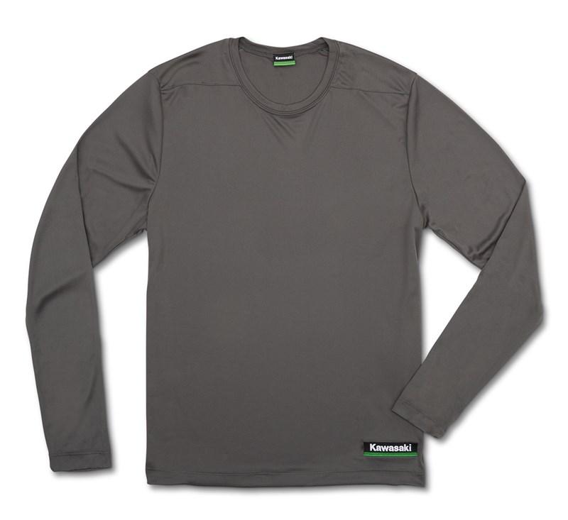 Kawasaki 3 Green Lines Cool Dry Long Sleeve Shirt detail photo 4