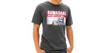 Kawasaki Heritage Logo Old School Sign T-shirt