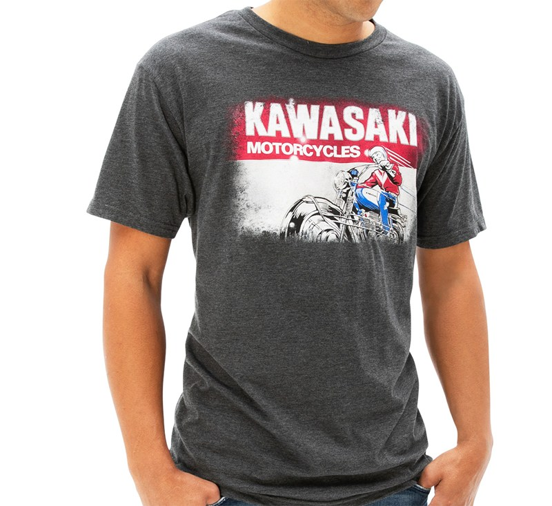 Kawasaki Heritage Logo Old School Sign T-shirt detail photo 1