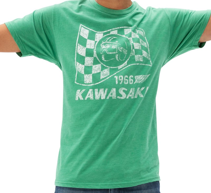 Kawasaki Heritage Flag T-shirt detail photo 1