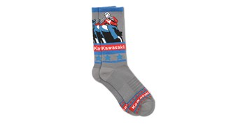 Kawasaki Heritage Logo Old School Sign Socks