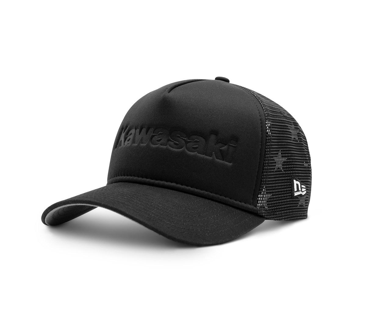 Oem Kawasaki New Era 9fifty 3 Lines Logo Cap Adjustable Hat Black K007-4062-BKNS