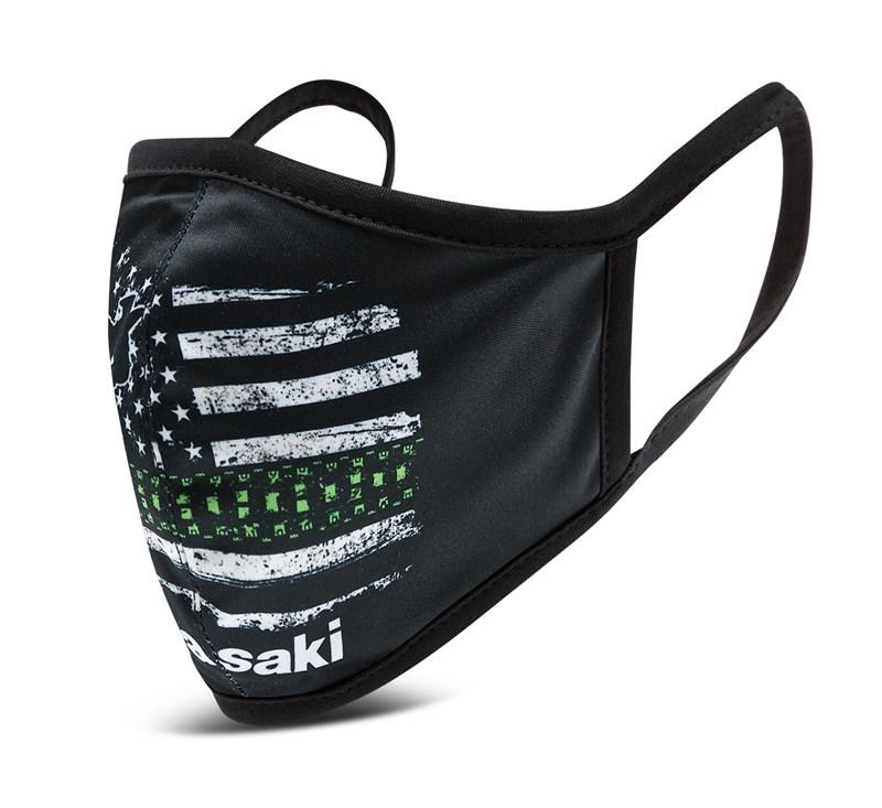 Kawasaki Cloth Face Masks 3 Pack - Flag Style detail photo 2