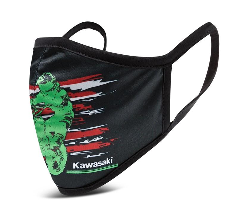 Kawasaki Cloth Face Masks 3 Pack - Flag Style detail photo 3