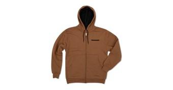 Kawasaki Duck Brown Zip-Up Hooded Fleece