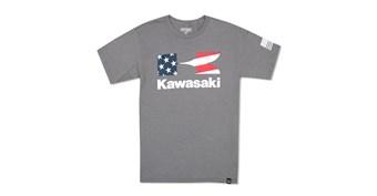 Heritage Kawasaki Flying K Star and Stripes T-Shirt