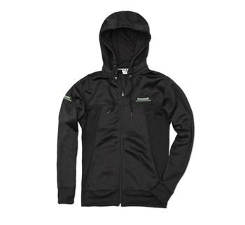 Kawasaki 3 Green Lines Technical Zip-Front Hooded Sweatshirt
