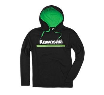 Kawasaki 3 Green Lines Hooded Sweatshirt