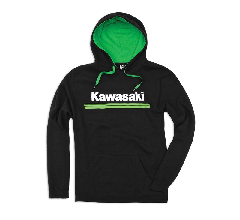 Kawasaki 3 Green Lines Hooded Sweatshirt detail photo 1