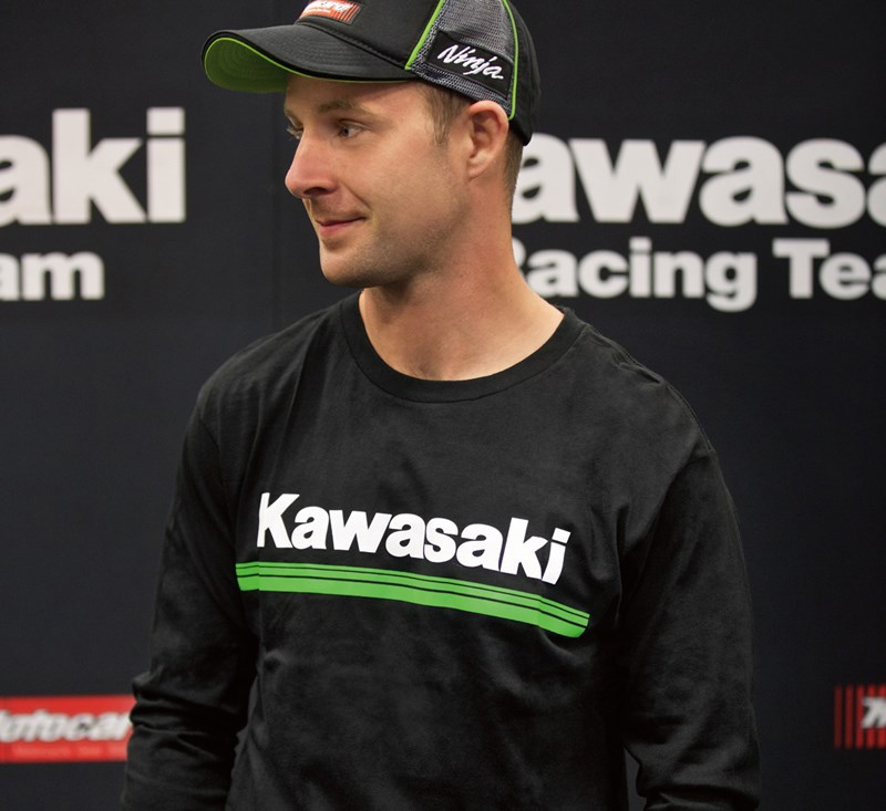 Kawasaki 3 Green Lines Long Sleeve T-Shirt detail photo 2