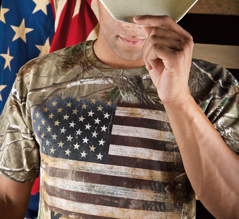 Flag Realtree® Xtra Green T-Shirt detail photo 2