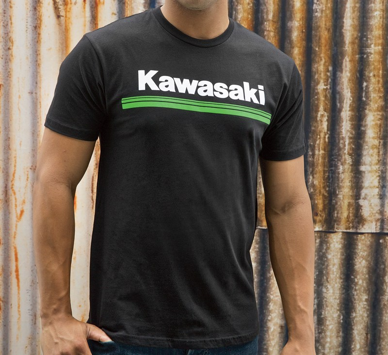 Kawasaki 3 Green Lines T-Shirt detail photo 2