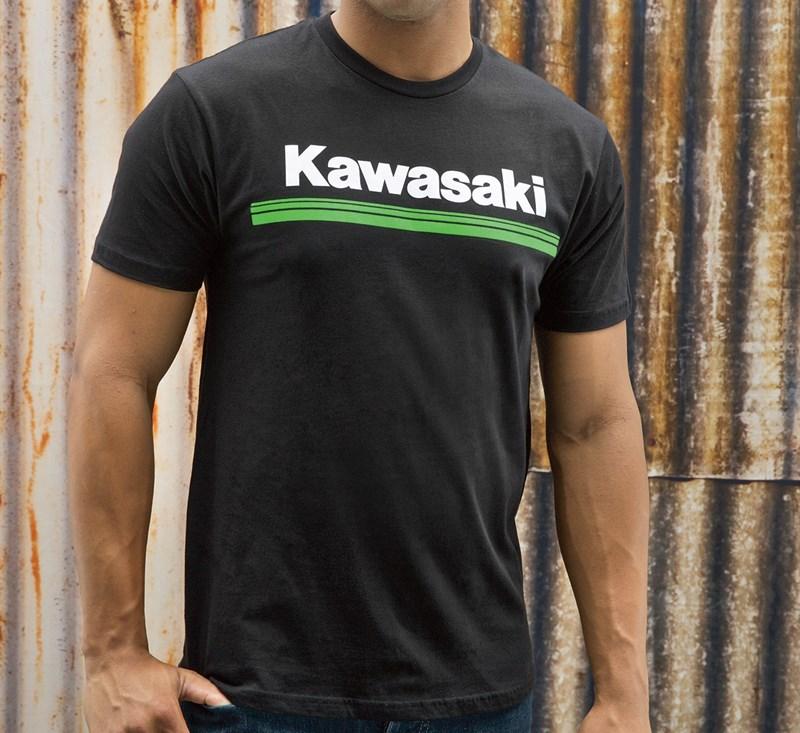 Kawasaki 3 Green Lines T-Shirt detail photo 2