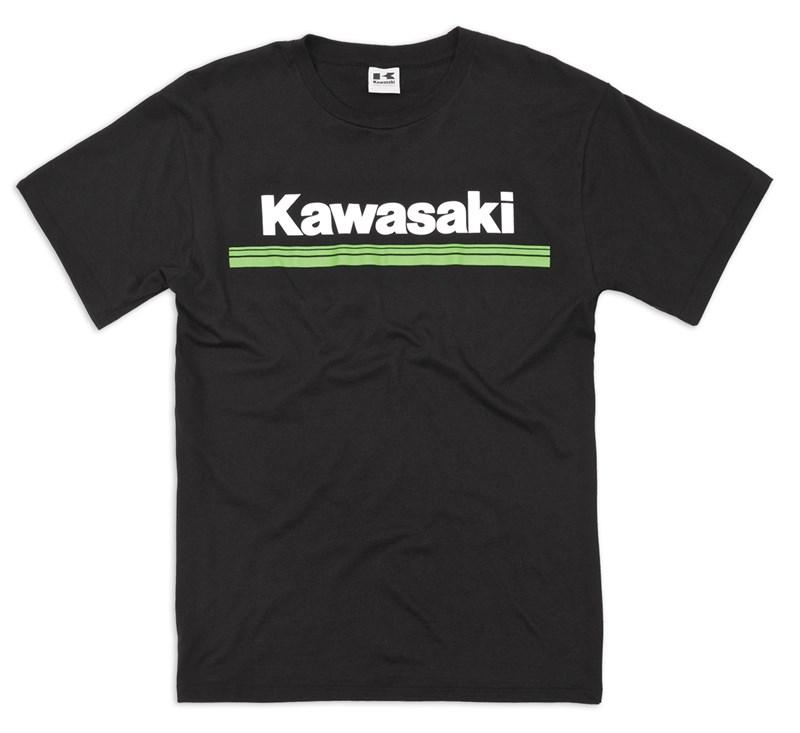 Kawasaki 3 Green Lines T-Shirt detail photo 1