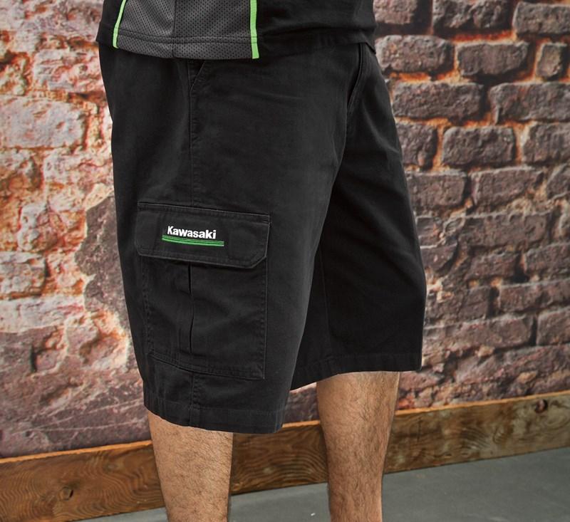 Dickies® Kawasaki 3 Green Lines Cargo Shorts detail photo 3