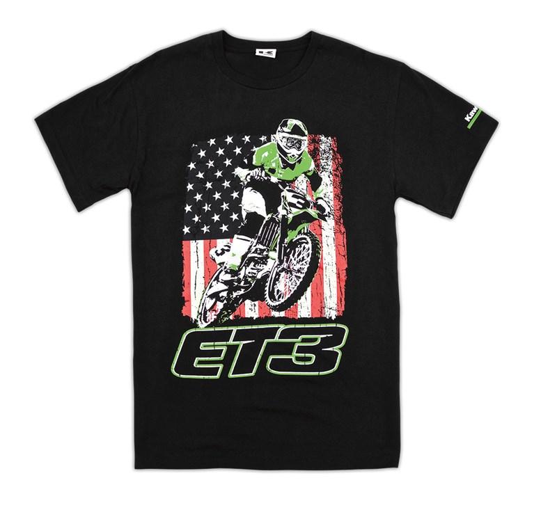 ET3 Distressed Flag T-Shirt detail photo 1