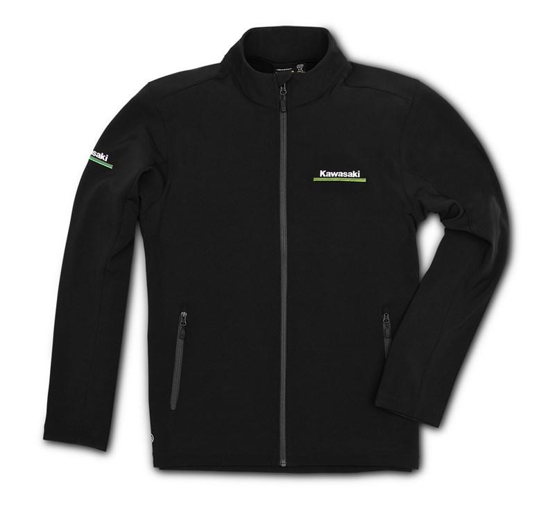 Kawasaki 3 Green Lines Softshell Jacket detail photo 1