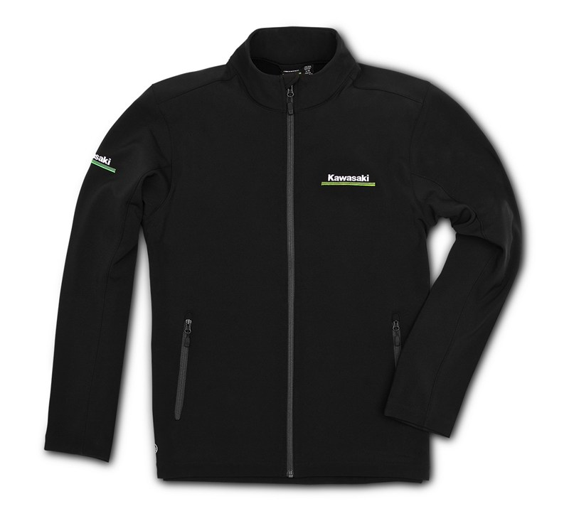 Kawasaki 3 Green Lines Softshell Jacket detail photo 1