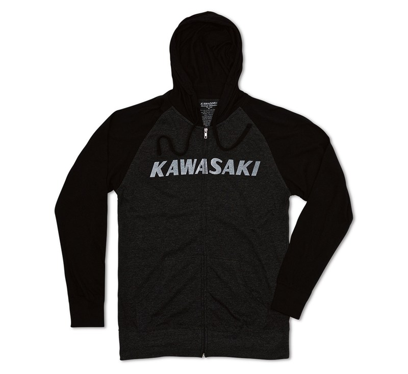 Kawasaki Heritage Logo Light Weight Hooded Sweatshirt detail photo 1